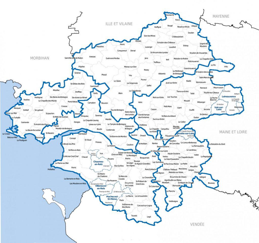 Bassins de vie de Loire Atlantique